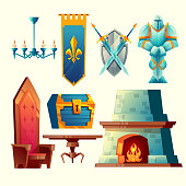 Vector interior objects for fantasy game design