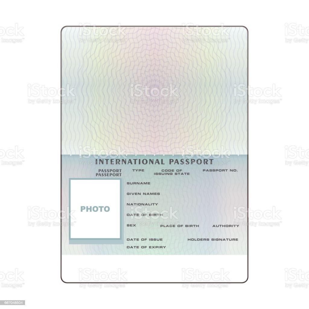 blank passport template Vector International Open Passport Blank Template Stock Vector Art ...