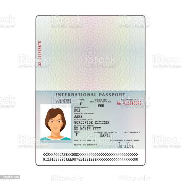 Vector international passport template with sample personal data page vector id656993730?b=1&k=6&m=656993730&s=612x612&h=qgfvefzjs76le5s9lqvv6sdc5mqvm6am21hkkregw m=