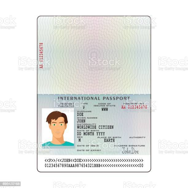 Vector international passport template with sample personal data page vector id695420168?b=1&k=6&m=695420168&s=612x612&h=xbwoi0yn6l0rxvprlb2t7rlrjyxn4khzqv07k5wxet8=