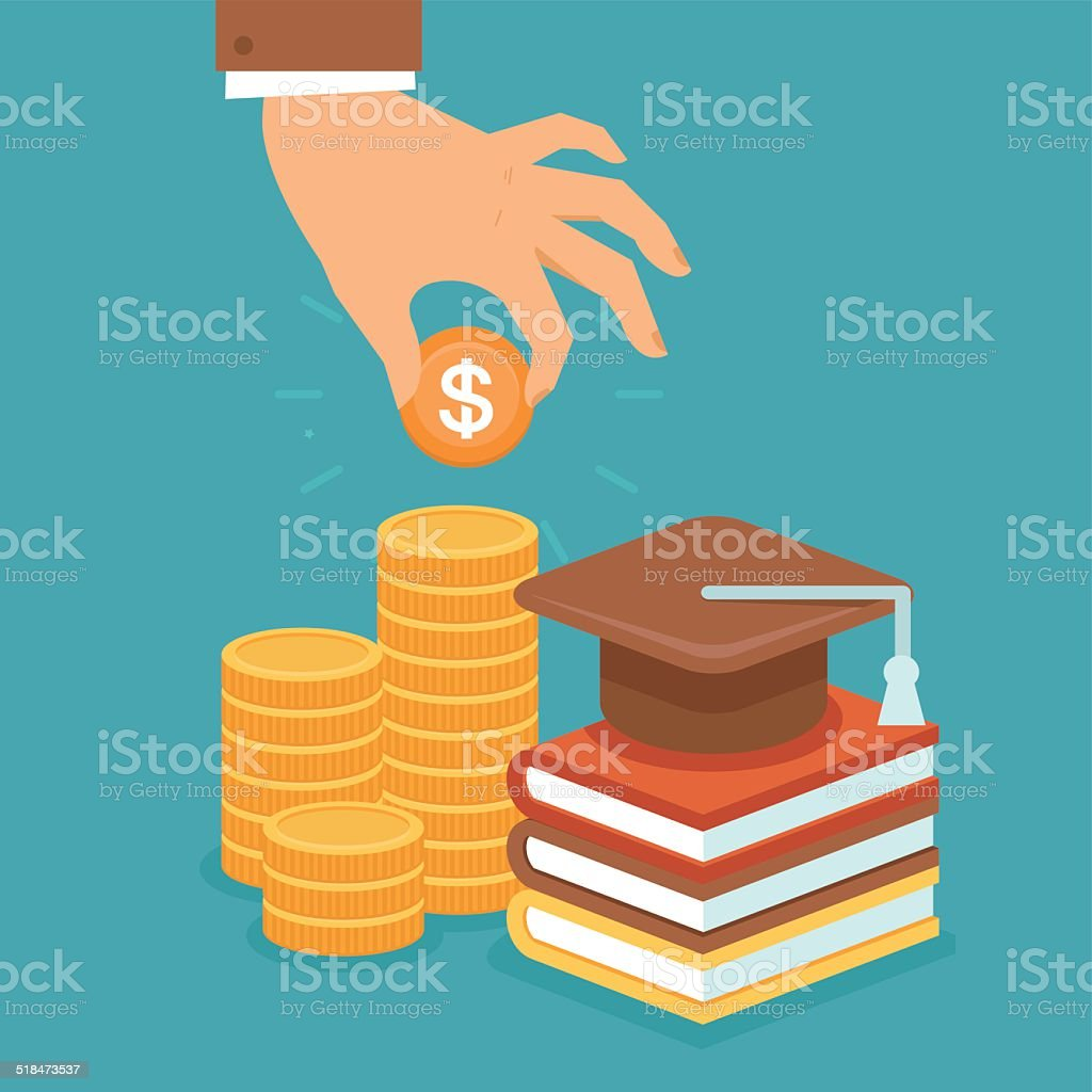 Vector invest in education concept vector art illustration