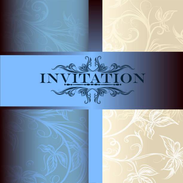 vector invitation card for design - black tie events stock illustrations, clip art, cartoons, & icons