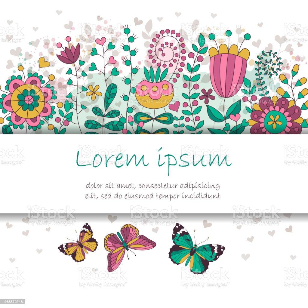 Ilustración De Tarjeta De La Invitación De Vector Con