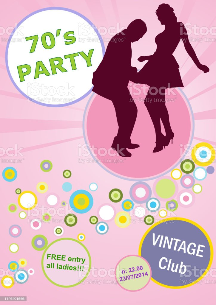 Vector invitation vintage dance