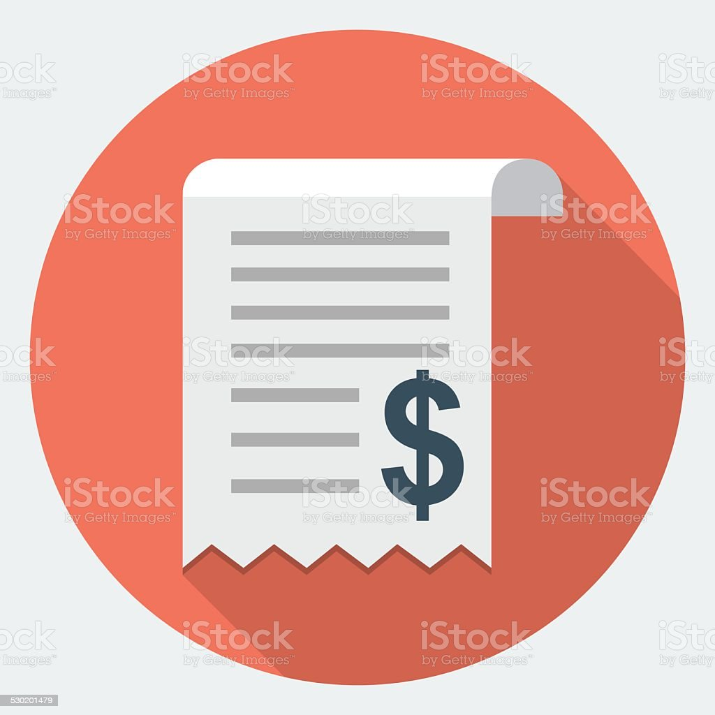 Vector Invoice Icon vector art illustration