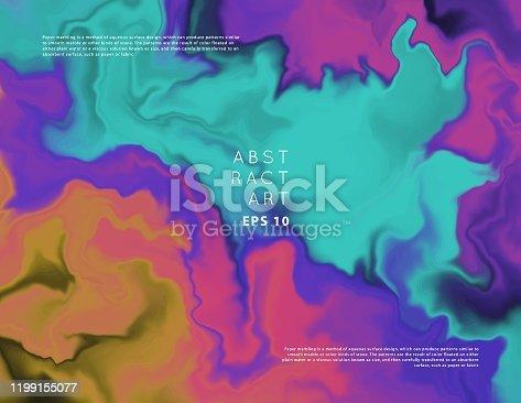 istock Vector iridescent pattern 1199155077