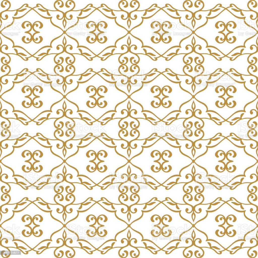 Floral arabesque pattern