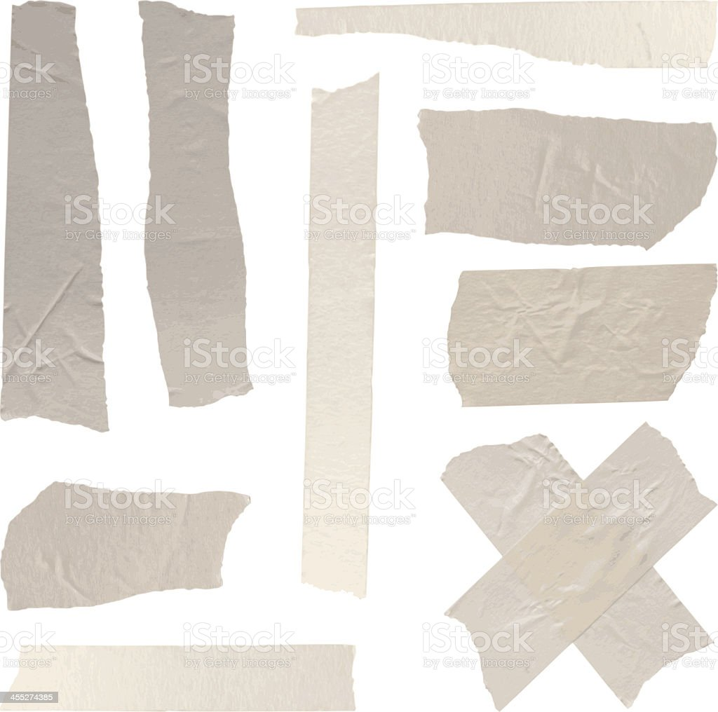 vector isolated adhesive tapes collection vector art illustration