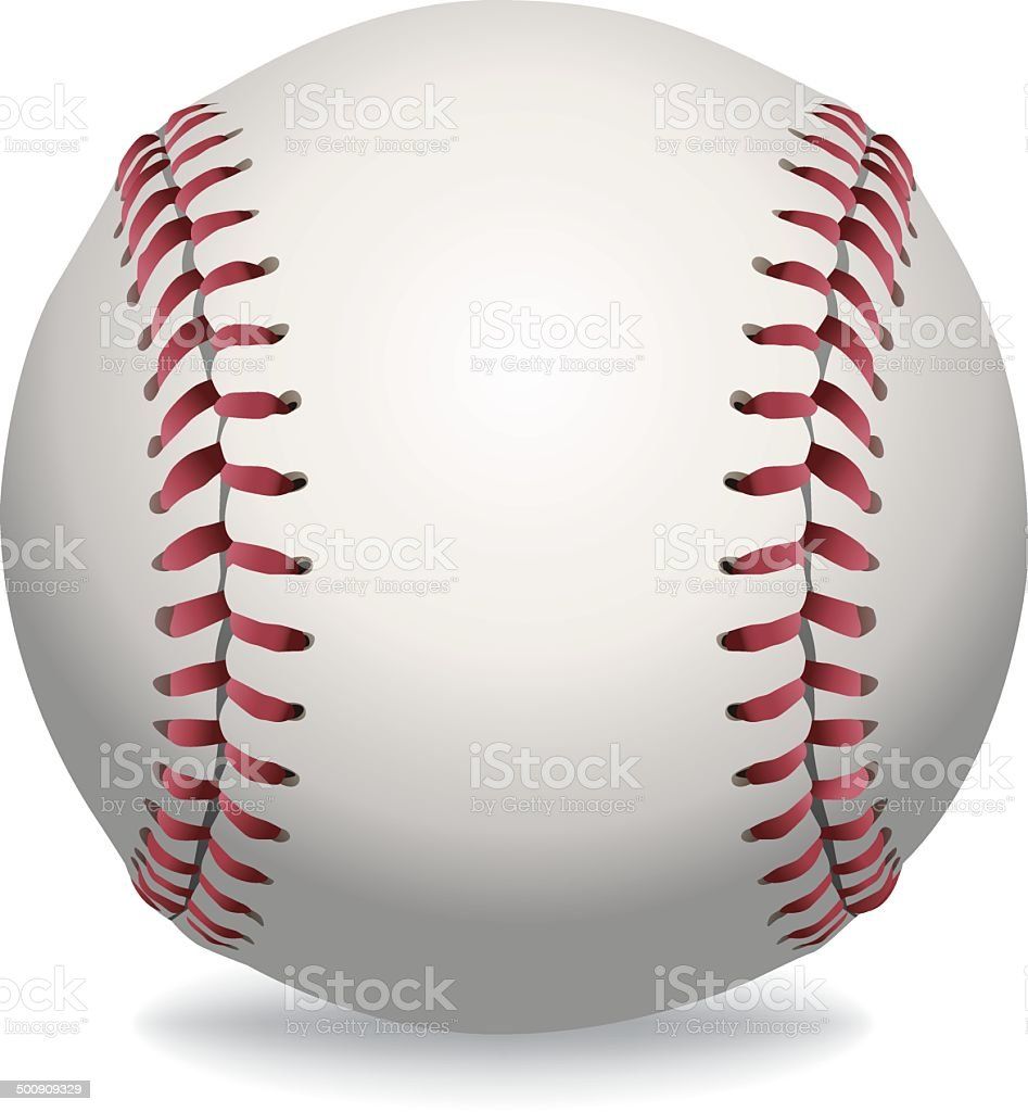 Vector Isolated Baseball Illustration vector art illustration