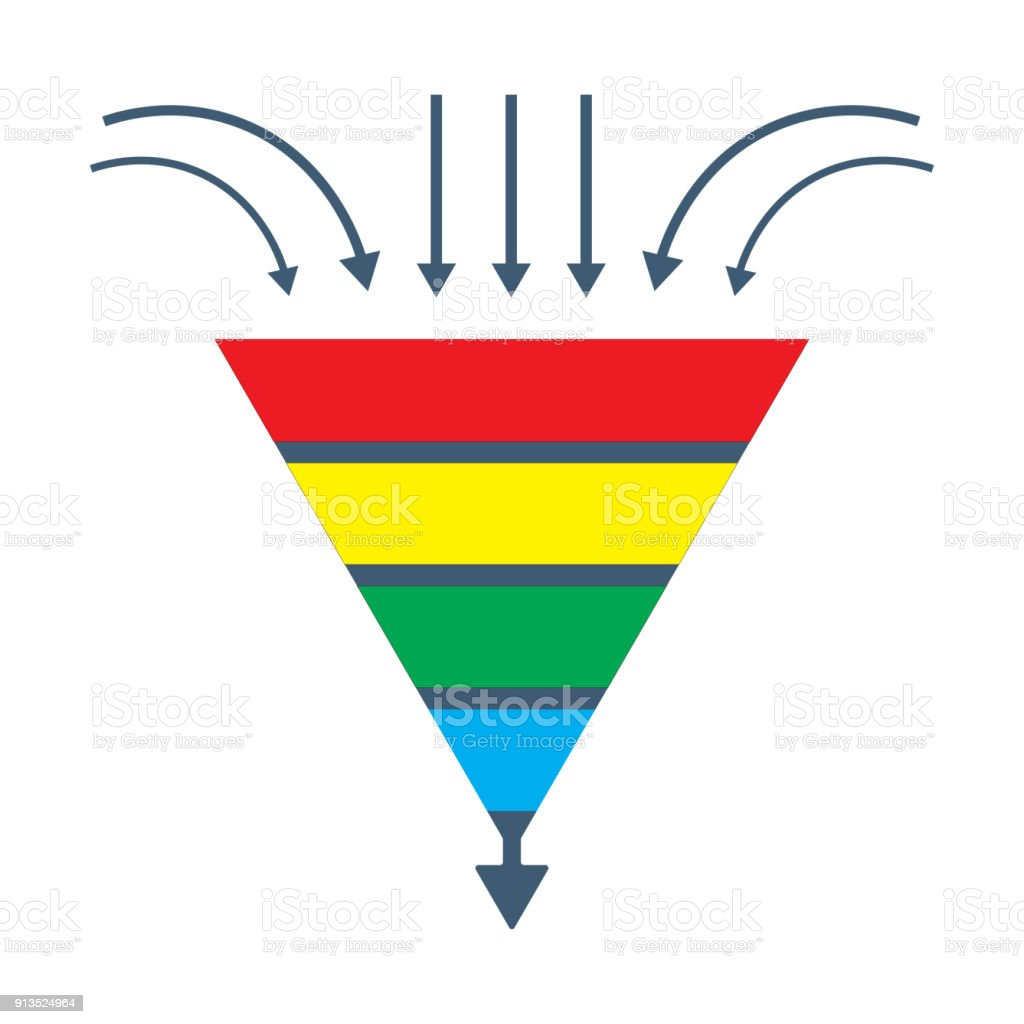 vector isolated diagram a conversion lead funnel or sales generation