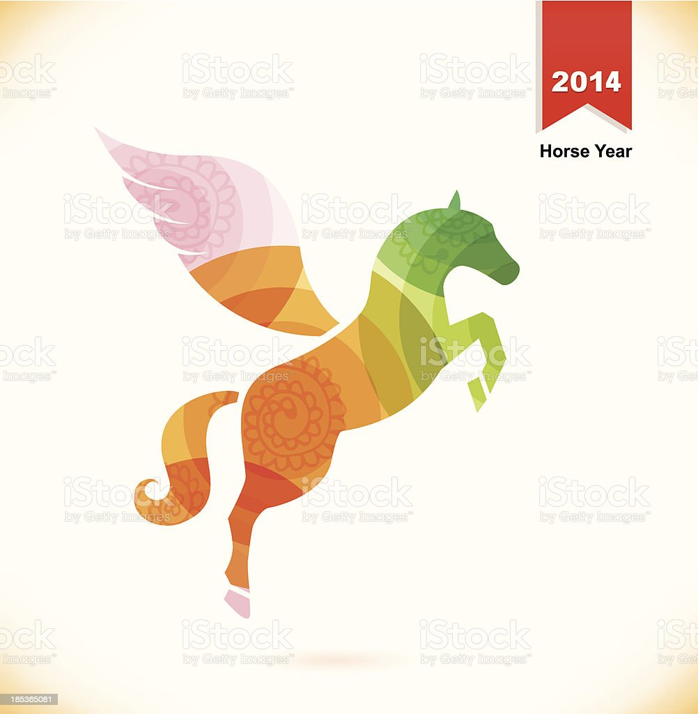 Vector isolated fantasy horse with wings  Pegasus royalty-free vector isolated fantasy horse with wings pegasus stock vector art & more images of 2014