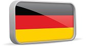 Vector isolated Germany flag sign.