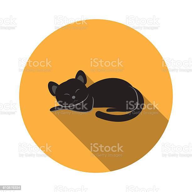 Vector isolated icon of black cat with shadow for halloween vector id610876334?b=1&k=6&m=610876334&s=612x612&h=kmqj1abkkh eplelywy5knz ry uctlliou cdvv6ii=