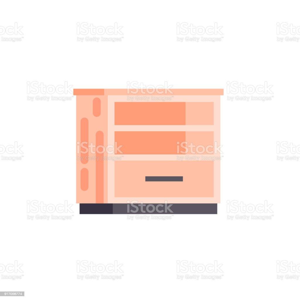 Vektor Isolierte Abbildung Symbol Möbel Leer Orange Nachttisch ...
