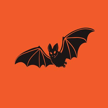 Vector isolated illustration of bat. Halloween design