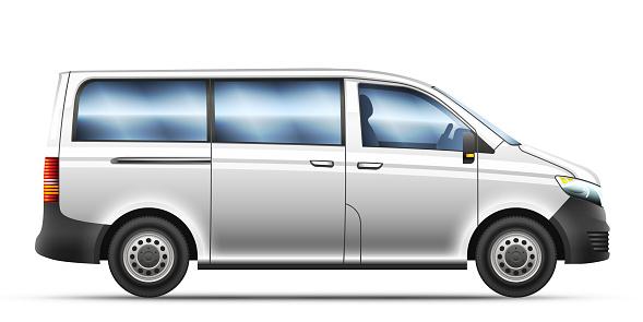 Vector isolated illustration of realistic mini-van.
