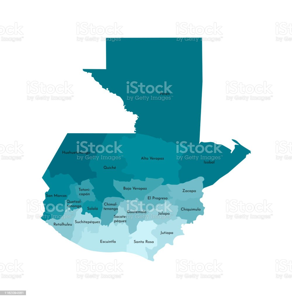 Vector Isolated Illustration Of Simplified Administrative ... on map of france departments, guatemalan departments, map de guatemala, map of georgia departments, map of mexico and belize, map of colombia departments,
