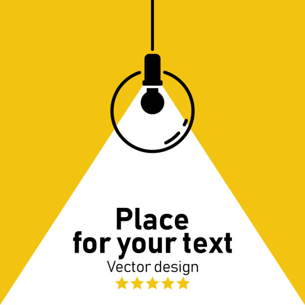 Vector Isolated Lamp. Modern interior.Vector Isolated Lamp.Lamp bulb Icon.Place for your text. spotlight stock illustrations