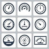 Vector isolated meters icons set