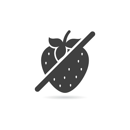 Vector Isolated No Strawberry Icon