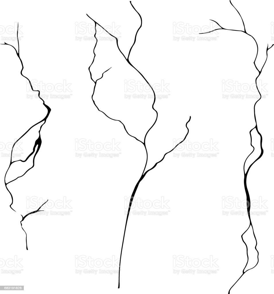 벡터 고립 된 현실적인 벽 균열. 인스턴트 색상 변경에 대 한 평판 합니다. royalty-free 벡터 고립 된 현실적인 벽 균열 인스턴트 색상 변경에 대 한 평판 합니다 0명에 대한 스톡 벡터 아트 및 기타 이미지