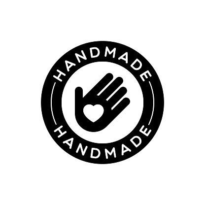 Vector Isolated Round Handmade Label
