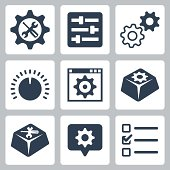 Vector isolated settings icons set