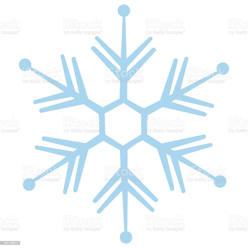 vector isolated snowflake vector art illustration