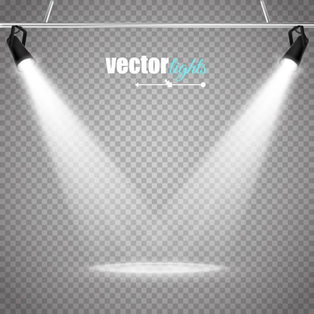 stockillustraties, clipart, cartoons en iconen met vector isolated spotlight - spotlicht belichting