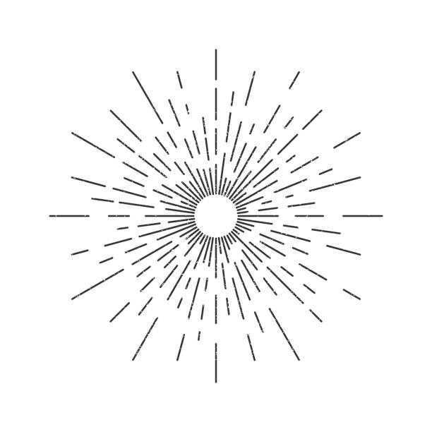 Vector isolated vintage sun rays for decoration and covering on the white background. Concept of sunburst and retro design. Vector isolated vintage sun rays for decoration and covering on the white background. Concept of sunburst and retro design. in a row stock illustrations