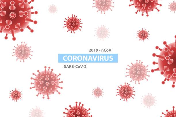 3D Vector Isometric Background of Coronavirus Outbreak. 3D Vector Isometric Abstract Background of Coronavirus Outbreak, Stop SARS-CoV-2 Disease Pandemic, Awareness and Alert Against 2019-nCov Virus. biohazardous substance stock illustrations