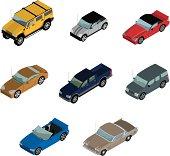 Vector Isometric Cars