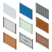 Vector Isometric fences and gates