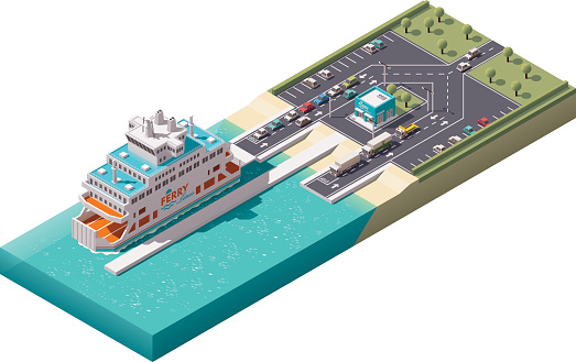 Ferry stock illustrations