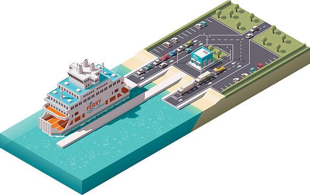 Ferry stock illustrations