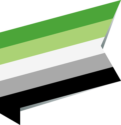 vector isometric flat Aromantic flag