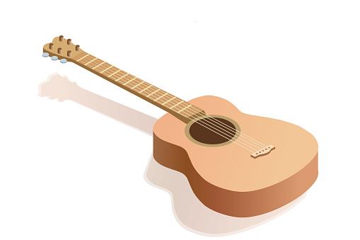 Vector isometric guitar illustration