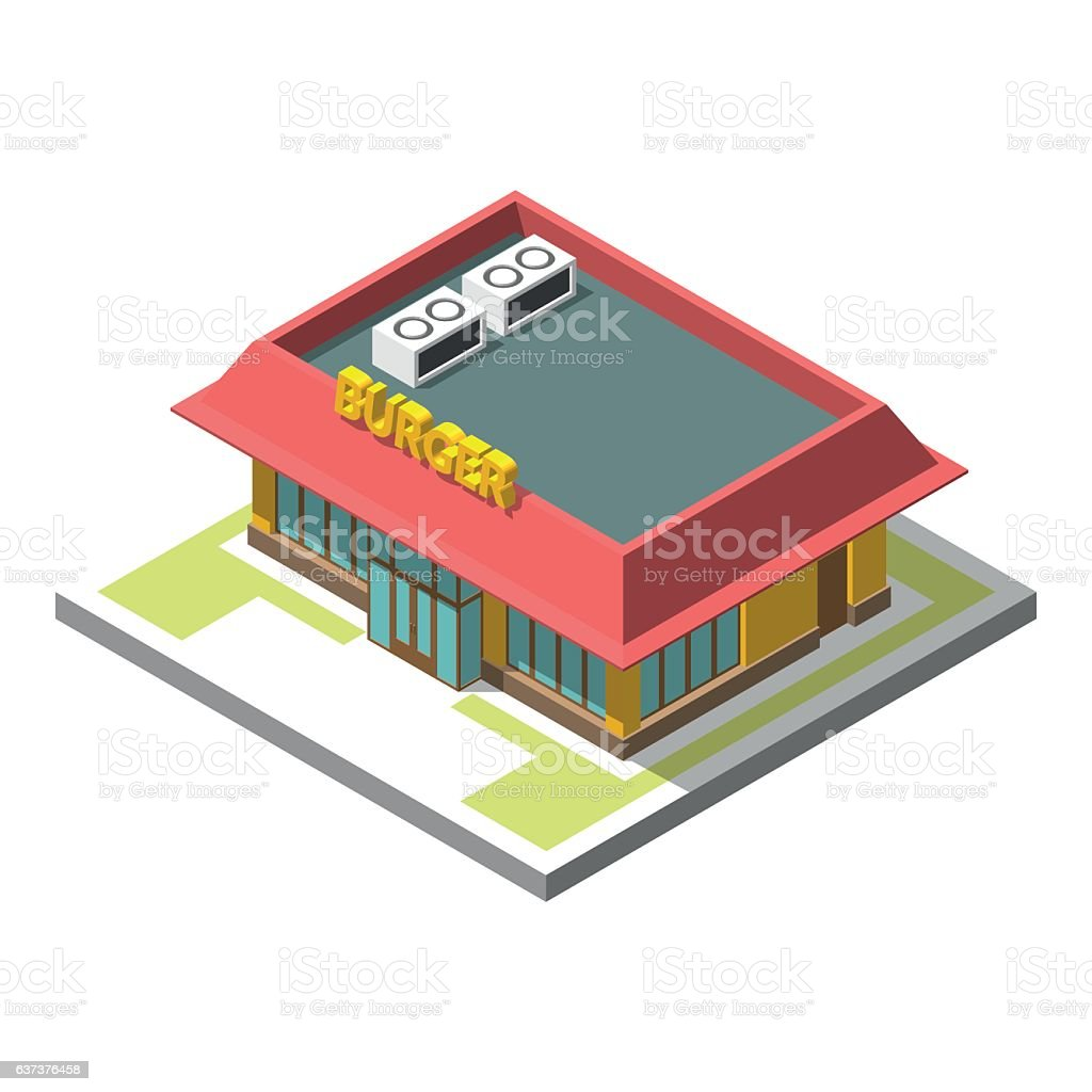Vector isometric icon infographic 3d building векторная иллюстрация