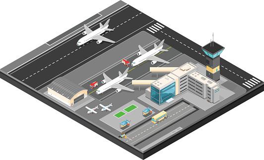 Vector Isometric Isometric Airport