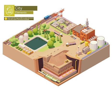 Vector isometric landfill gas power plant