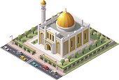 Vector isometric mosque