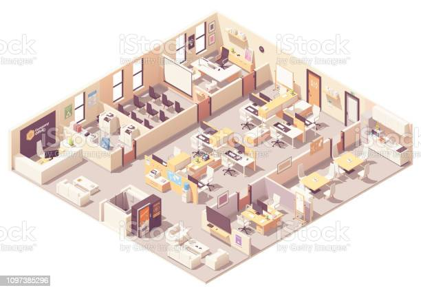 Vector isometric office interior plan vector id1097385296?b=1&k=6&m=1097385296&s=612x612&h=38p me7hqclitllde7 snk1nmr9vahtobabqmgctfrk=