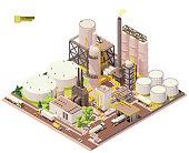 istock Vector isometric oil refinery plant 1294292095