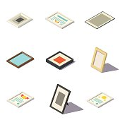 Vector Isometric Picture Frames