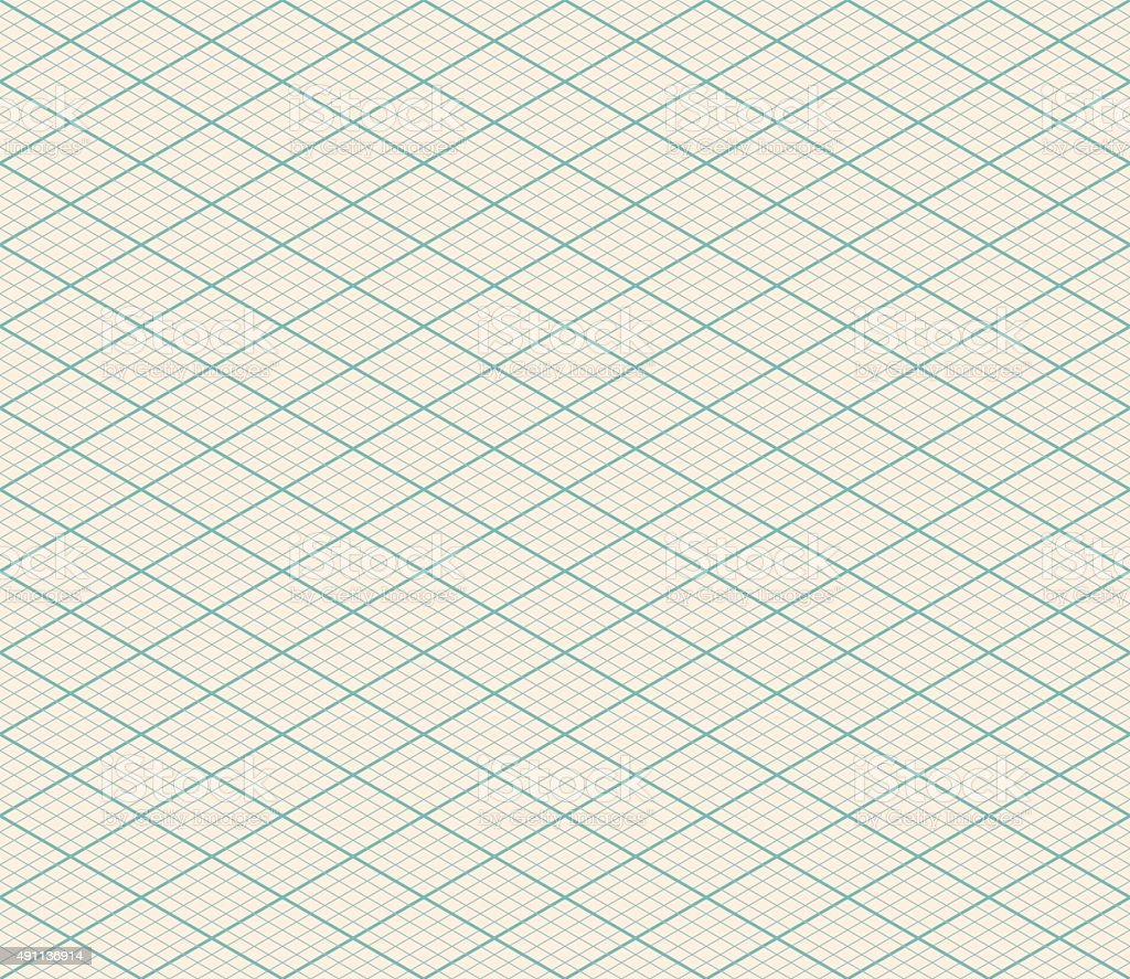 Vector Isometric Seamless Background vector art illustration