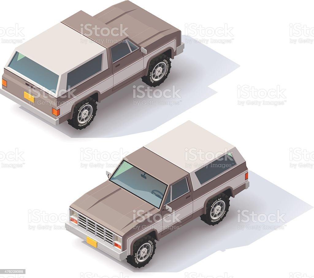 Vector isometric SUV vector art illustration