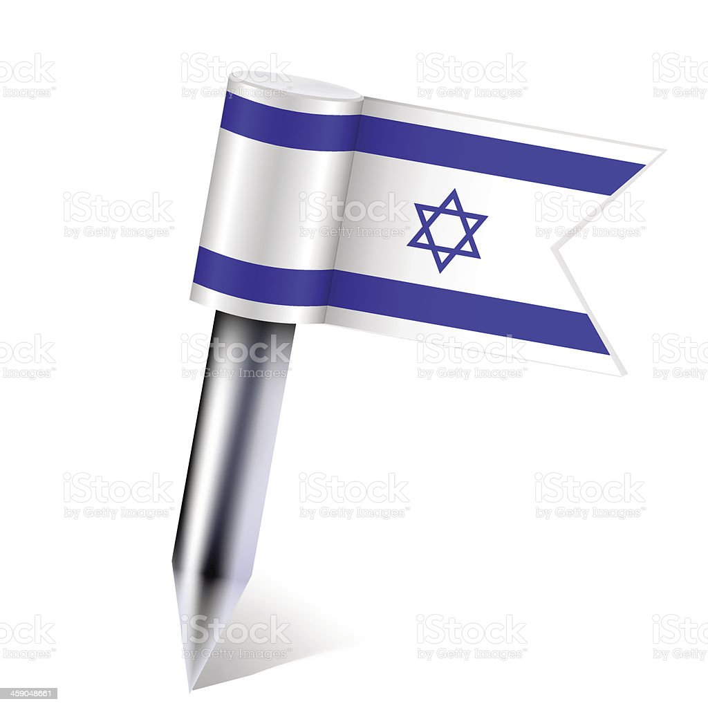Vector Israel flag isolated on white. Eps10 royalty-free stock vector art