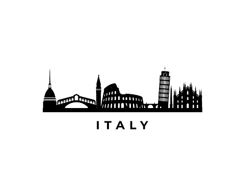 Vector Italy skyline. Travel Italy famous landmarks. Business and tourism concept for presentation, banner, web site.