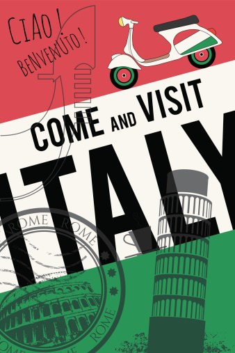 vector italy travel invitation poster