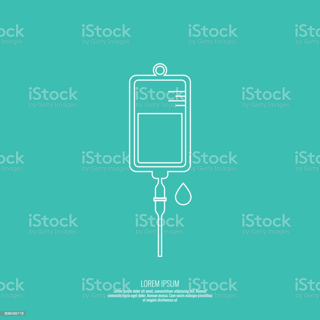 Vector iv bag icon. vector art illustration